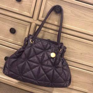 Furla purple leather handbag